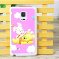 Winnie The Pooh Piglet Matte Hard Back Cases For Samsung Galaxy Note Edge N9150 - Purple