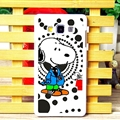 Cool Snoopy Dot Matte Hard Back Housing For Samsung Galaxy A7 A7009 - Black
