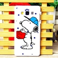 Cool Snoopy Dot Matte Hard Back Housing For Samsung Galaxy A7 A7009 - Blue