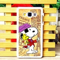 Cool Snoopy Matte Hard Back Housing For Samsung Galaxy A7 A7009 - Coffee