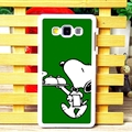 Cool Snoopy Matte Hard Back Housing For Samsung Galaxy A7 A7009 - Green