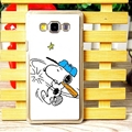 Exquisite Snoopy Matte Hard Back Cases For Samsung Galaxy A7 A7009 - White
