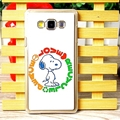 Exquisite Snoopy Matte Hard Back Housing For Samsung Galaxy A7 A7009 - White
