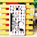 Lovely Rhombus Snoopy Matte Hard Back Skin For Samsung Galaxy A7 A7009 - Black