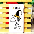 Lovely Snoopy Matte Hard Back Skin For Samsung Galaxy A7 A7009 - Black