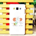Lovely Snoopy Matte Hard Back Skin For Samsung Galaxy A7 A7009 - Orange