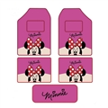 NAPOLEX Minnie Mouse Universal Auto Carpet Floor Mats For Cars Velvet 5pcs Sets - Rose